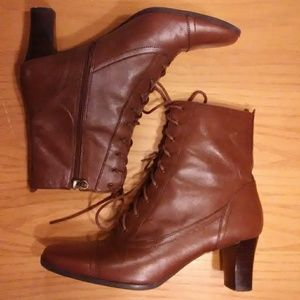 Etienne Aigner Lace up Ankle Booties size 7.5